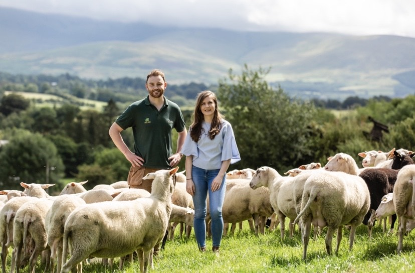 Ballyhubbock Farm - George and Hanna at their County Wicklow Farm - proud to be a member of Wicklow Naturally