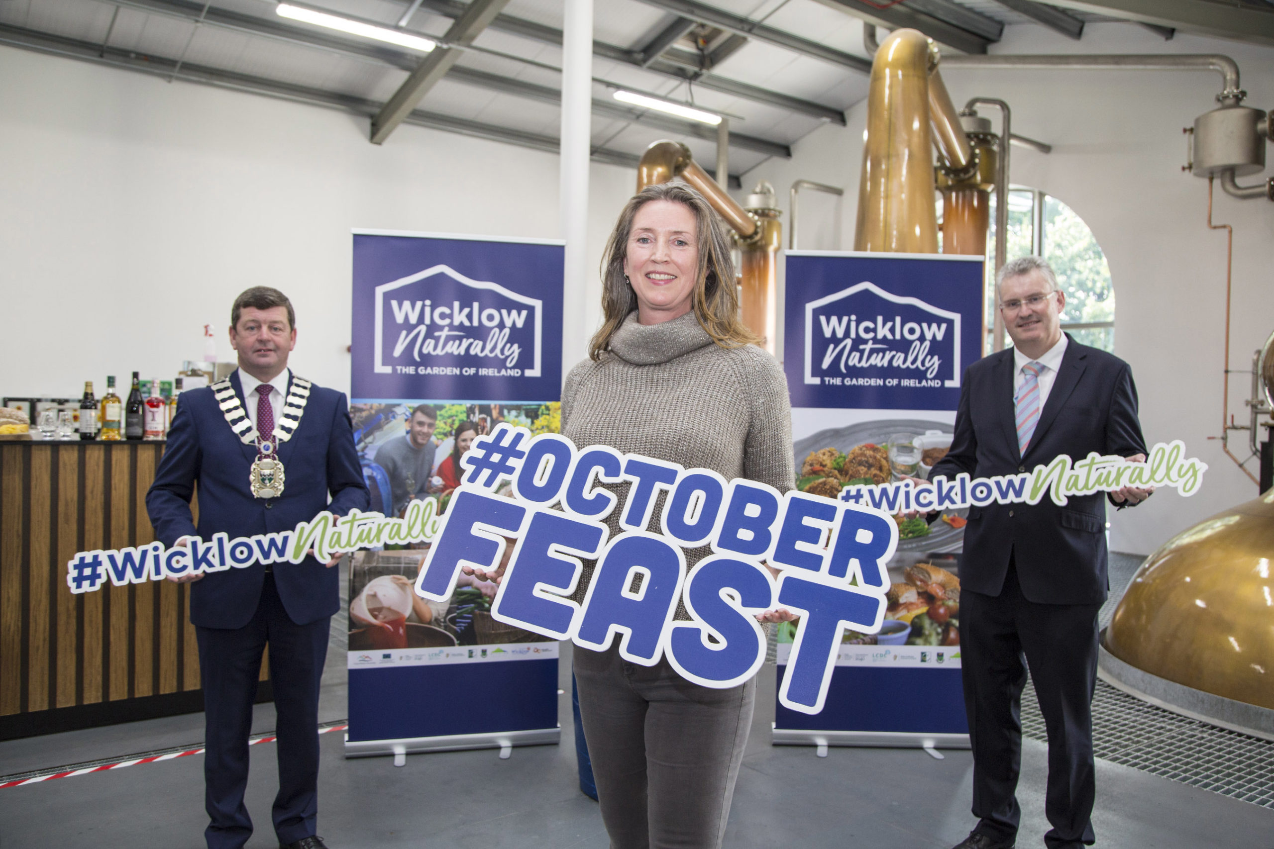 Wicklow Naturally's October Feast is launched by Wicklow Naturally at Powerscourt Distillery