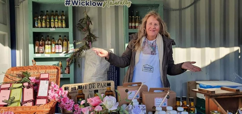 Margaret Hoctor at the Wicklow Naturally stall at Airfield Estate Farmers Market